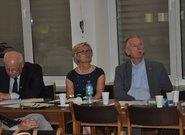 od prawej: Jacek Węsierski – Dyrektor CDR w Brwinowie, Katarzyna Boczek – Z-ca Dyrektora CDR w Brwinowie, Stanisław Kacperczyk Prezes PZPRZ