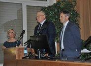 od prawej: prof. Jerzy Grabiński - IUNG – PIB w Puławach, Stanisław Kacperczyk Prezes PZPRZ, Katarzyna Boczek – Z-ca Dyrektora CDR w Brwinowie