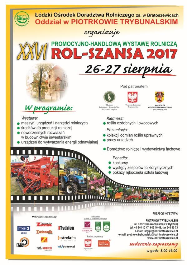 XXVI Promocyjno-Handlowa Wystawa Rolnicza ROL–SZANSA 2017
