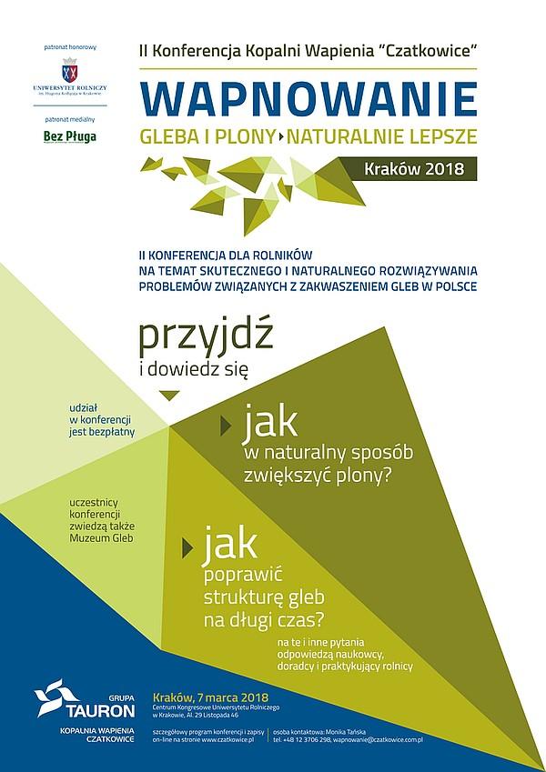 Zaproszenie na II Konferencję pn. Wapnowanie - gleba i plony naturalnie lepsze