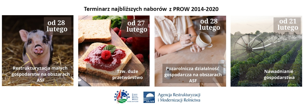 Nabory wniosków w ramach PROW 2014-2020, teksty jednolite rozporządzeń