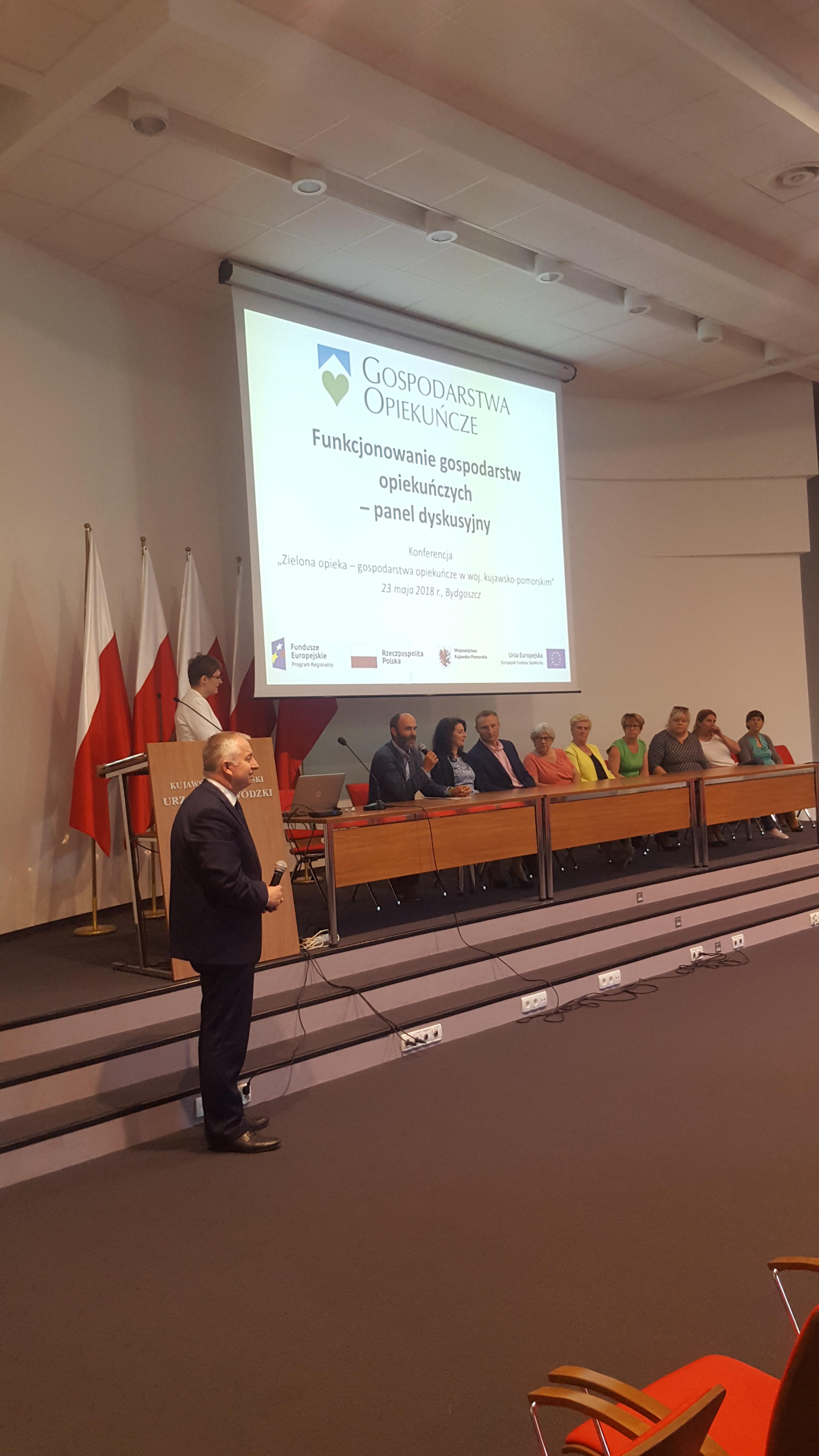 """Konferencja podsumowująca projekt """"Zielona opieka – gospodarstwa opiekuńcze w woj. kujawsko-pomorskim"""""""