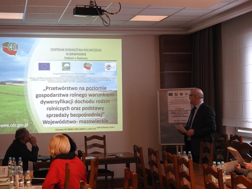 W CDR w Radomiu ruszył projekt: Przetwórstwo na poziomie gospodarstwa rolnego warunkiem dywersyfikacji dochodu rodzin rolniczych oraz podstawy sprzedaży bezpośredniej