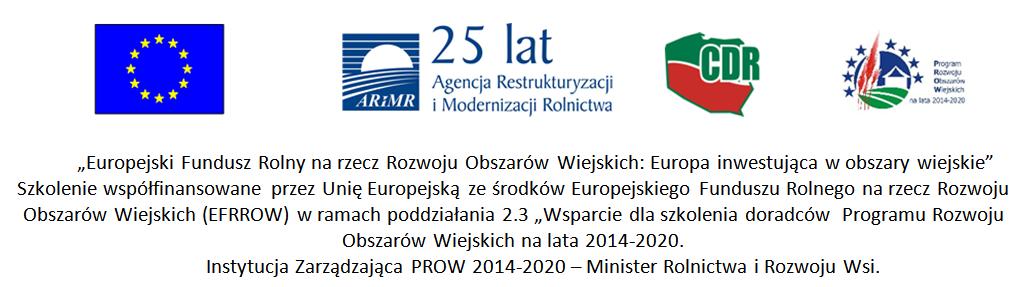 INTEGROWANA OCHRONA ROŚLIN - szkolenia dla doradców z kraju z wyłączeniem województwa mazowieckiego