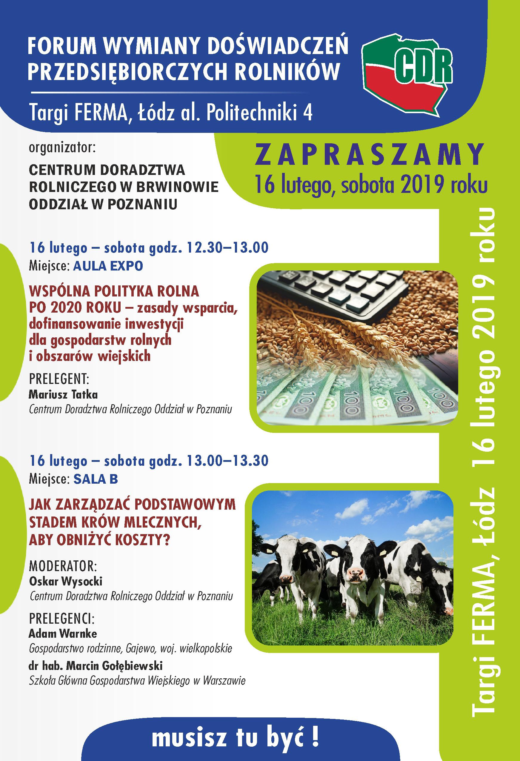 Forum Wymiany Doświadczeń Przedsiębiorczych Rolników
