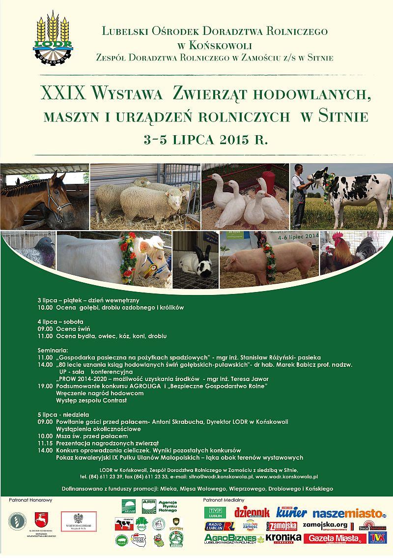 XXIX Wystawa Zwierząt Hodowlanych, Maszyn i Urządzeń Rolniczych w Sitnie